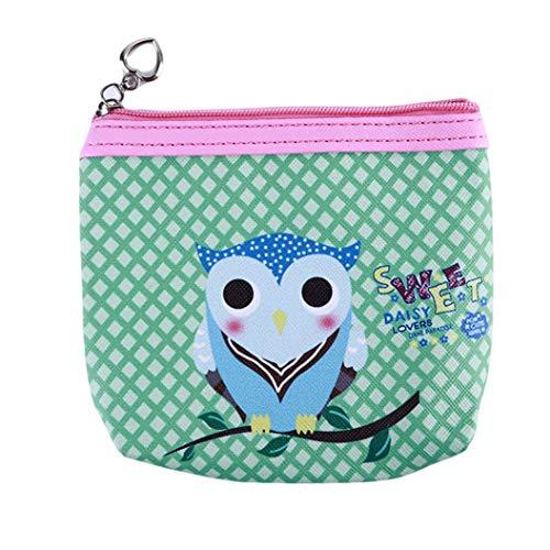 LZIYAN Cute Coin Purse Cartoon Owl Pattern Coin Purse Clutch Bag Portable Small Wallet With Zipper Storage Bag Creative Gift For Women,5# by LZIYAN (Image #1)