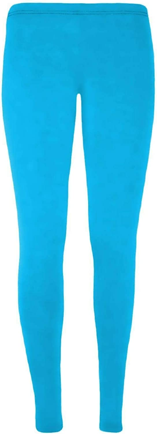 Hamishkane New Girls Kids Plain Stretchy Microfiber Leggings Gymnastics Full Length Trouser