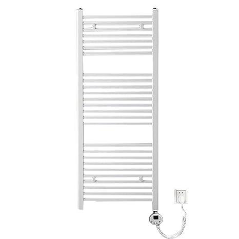 QETU Toallero eléctrico, Toallero de Secado de baño termostático montado en la Pared con protección