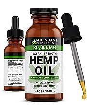 Hemp Oil 30,000mg - Premium Formula for Pain Relief, Anxiety, Depression & Stress - 950mg Per Serving x 30 Servings - Anti-Inflammatory Omega 3/6 – Organic & Non GMO – Hemp Flavor…