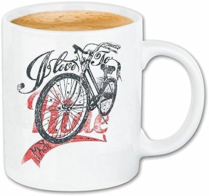 taza para café Me encanta montar AMO MI BICI CICLISMO Mountain ...