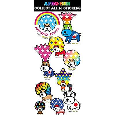FIRST CLASS VENDING Afro Ken Sticker Collection (300 Count): Toys & Games