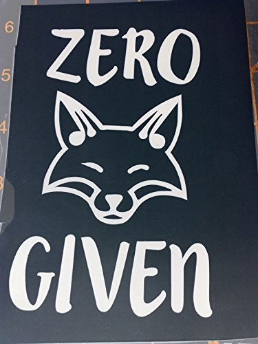 Amazon Com Zero Fox Given Decal Vinyl Sticker Cars Trucks Vans