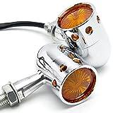2pcs Chrome Motorcycle Turn Signals Blinker Lights For Yamaha V-Star Vstar 950 1100 1300 Classic Stryker
