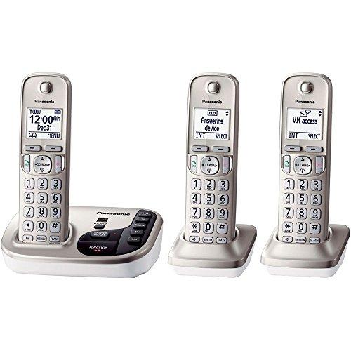 Telephone Cordless, Silver Panasonic Cordless 3-handset Home Landline Telephone