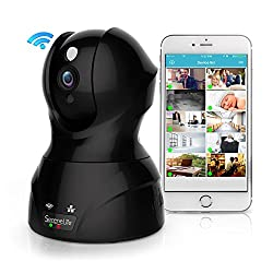 Indoor Wireless IP Camera - HD 1080p Network Security Surveillance Home Monitoring Featuring Motion Detection, Night Vision, PTZ, 2 Way Audio, iPhone Android Mobile App - PC WiFi Access - IPCAMHD82