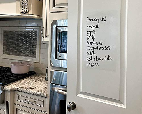 """Kassa Clear Dry Erase Board Sticker - 18'' x 78"""" (6.5 Feet) - 3 Dry-Erase Board Markers Included - Transparent White Board Film for Refrigerator, Desk, Office - Glass Whiteboard for Wall Alternative by Kassa (Image #3)"""