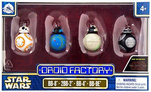 Star Wars The Last Jedi Droid Factory Figures 4 Pack  Bb 8  2Bb 2  Bb 4   Bb 9E  Disney Parks Authentic Original Exclusive
