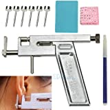 Steel Body Ear Piercing Gun Pierce Metal Kit Tool With 98 Free Studs