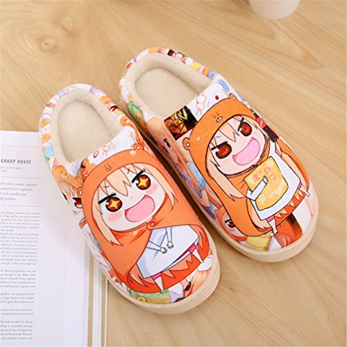 de por Umaru Himouto Zapatillas Anime Zapatos Felpa Super Suave estar casa chan Bromeo 4Tqqw