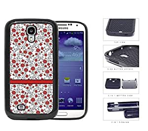 Pattern Of Red Roses 2-Piece Dual Layer High Impact Rubber Silicone Cell Phone Case Samsung Galaxy S4 SIV I9500