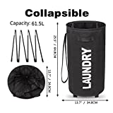 WOWLIVE Round Laundry Hamper with Wheels Rolling