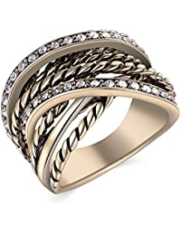 Retro Vintage Interwined Gold Statement Ring for Women