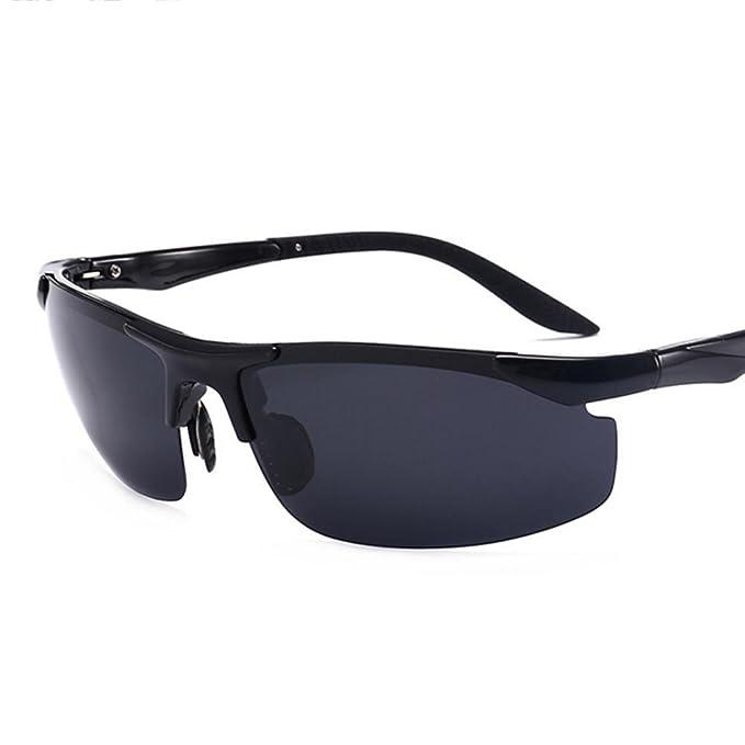 8005 Gafas De Sol Polarizadas Para Hombre Para La Conducción De Esquí Golf Running Cycling Tr90 Superlight Frame Design Para Hombre Y Mujer , Black: ...
