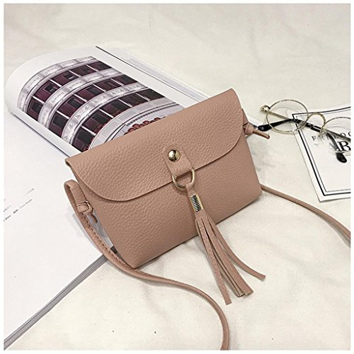 Brown Crossbody Purse Handbag Pink Bags Fashion Bags Bag Mini Seaintheson Shoulder Shoulder Clearance Vintage Bag Tassel Messenger Small Leather Shoulder wU1OWCqT