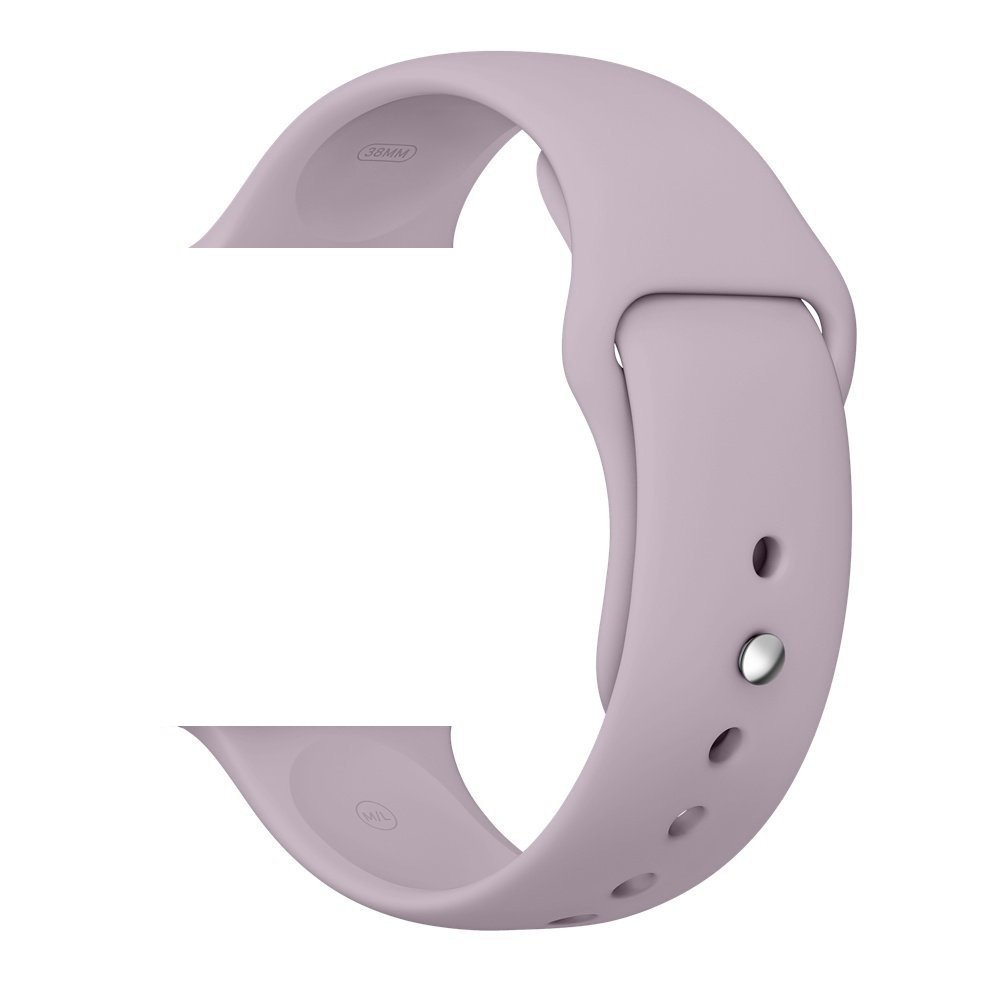 WESHOT Apple Watch Band, Silicone Soft Replacement Watch Band Strap For Apple Watch Sport Edition 38MM Lavender M/L