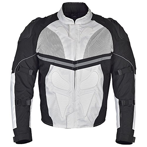 White And Black Motorcycle Jacket - 8