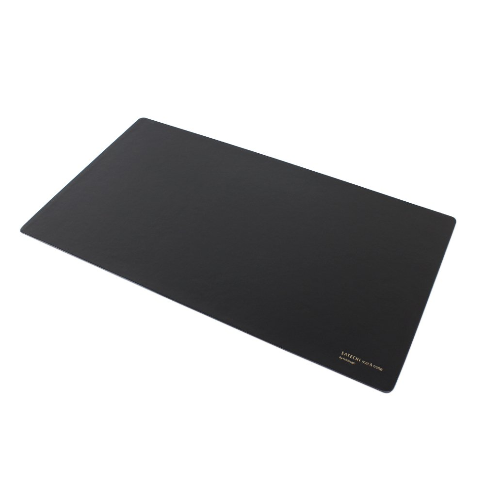 Satechi Desk Mat & Mate 24'' x 14'' Desk Pad & Protector Mouse Pad - Compatible with Desktops and Laptops (Black) by Satechi