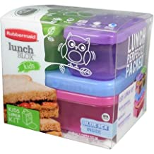 Rubbermaid Tall Lunch Blox Kit includes 2 x Containers , 1 x Ice Tray , 1 x Sandwich Container by Rubbermaid