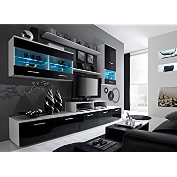 Paris Contemporary Design Wall Unit / Modern Entertainment Center / Unique  Modern Design / With LED