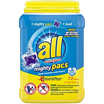 Amazon Com All Mighty Pacs Laundry Detergent Stainlifter