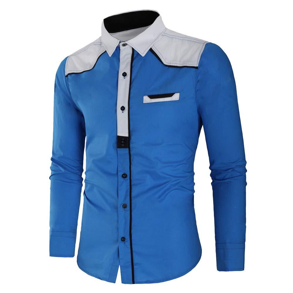 Shirts for Men Men Autumn Winter Casual Printed Long Sleeve Slim T-Shirt Top Blouse