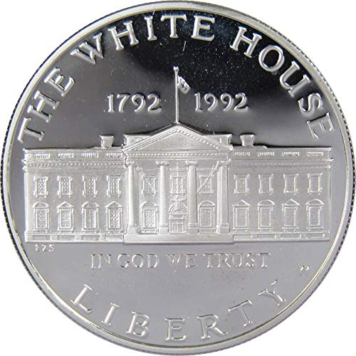1992 W $1 White House Commemorative Silver Dollar US Coin Choice Proof (1992 White House 200th Anniversary Proof Silver Dollar)