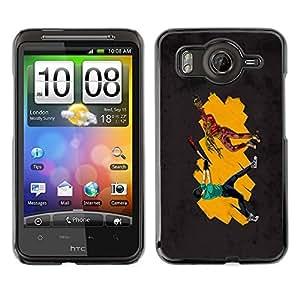 Cubierta de la caja de protección la piel dura para el HTC DESIRE HD / G10 - Funny Fighting