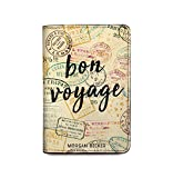 Personalized RFID Blocking Leather Passport Cover Wallet - Bon Voyage