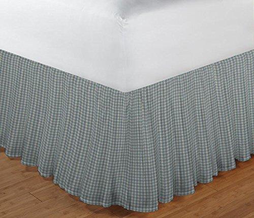 Blue White Homespun Fabric - 3