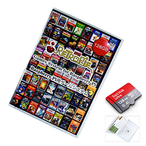 128 GB Retropie SD Card for Raspberry Pi 4B, pre-Recorded 8000+ Retro Games with Video Preview and Collection