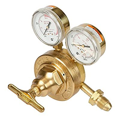 Victor Technologies 0781-0589 SR-461B-510 Heavy Duty Single Stage L.P. Gas Regulator, 2-40 psig Delivery Range, CGA 510 Inlet Connection by ESAB