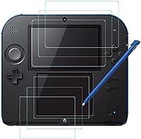 Haz clic para obtener una vista ampliada Protectores de Pantalla para Nintendo 2DS y Stylus, AFUNTA 3 Pack (6 piezas) Película de PET HD para Pantalla Superior e Inferior, con 1 Plástico Touch Pen