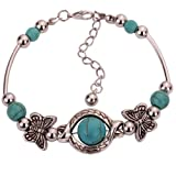 YAZILIND-Rimous-Green-Bead-Inlay-Butterfly-Bangle-Alloy-Bracelet-For-Women-Gift