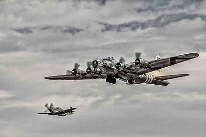 Amazon com: Louis Leonard Art - B-17 Flying Fortress with P