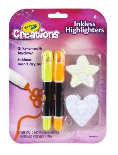 Crayola Creations Inkless Highlighters 2 Count - Assorted Colors - 2 (Crayola Pen)