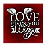 Tile Coaster (Set 4) Love Gives You Wings