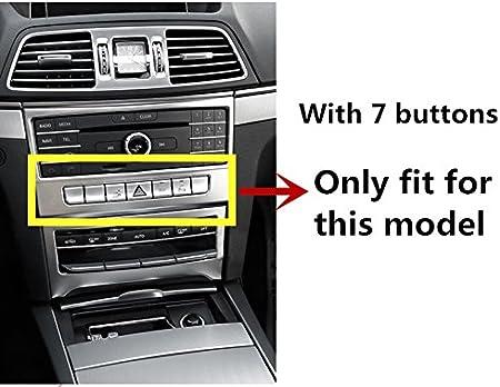 Innen Mittelkonsole Cd Klimaanlage Schalter Rahmen Zierleisten 2stk Auto