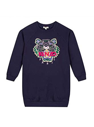 65ef23e323 Amazon.com: Kenzo Kids Blue Tiger Print Sweatshirt Dress: Clothing