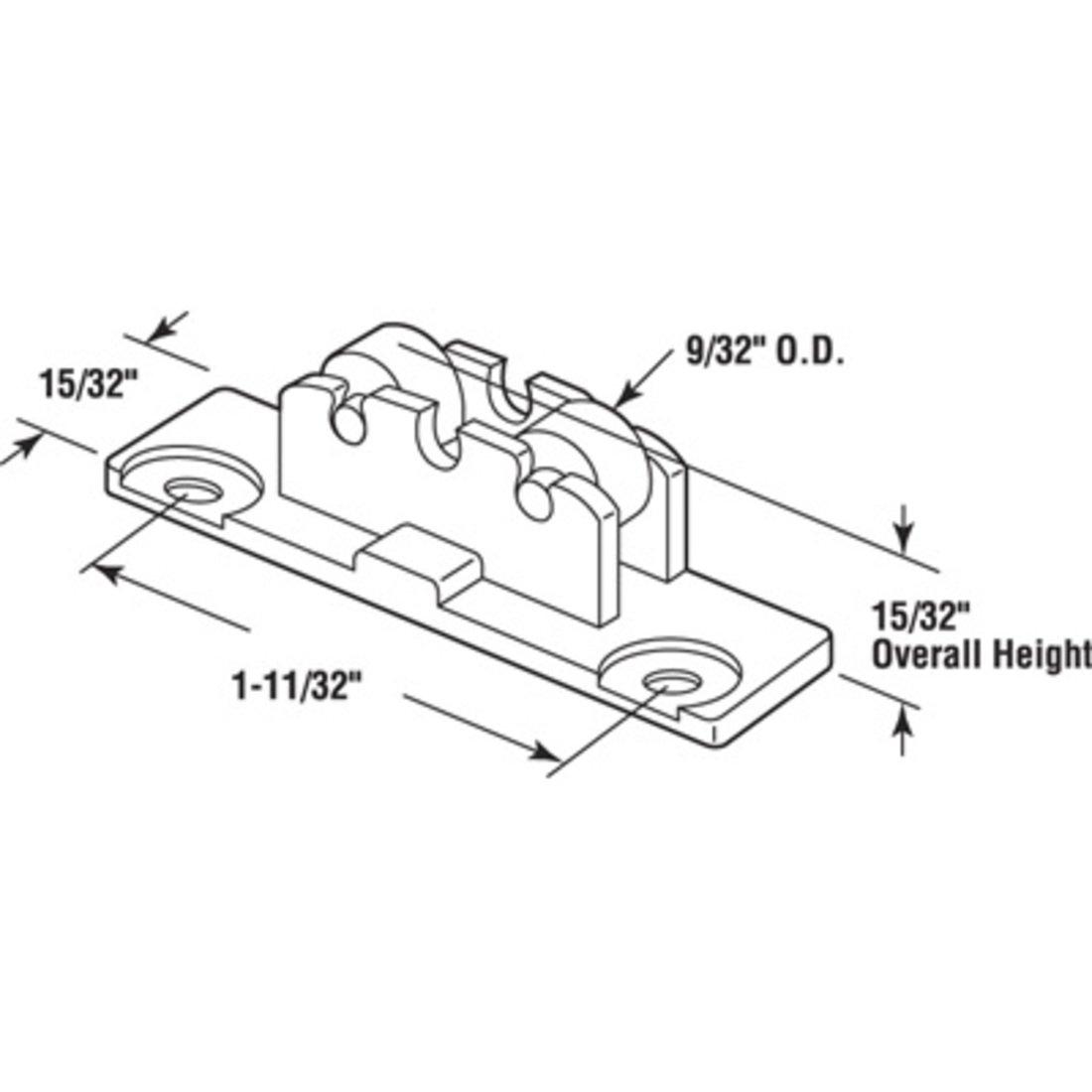 Tandem Flat Edge Window Roller Assembly 9//32 Daimeter Steel Wheel for Horizon Windows LAURENCE G3165 Package 9//32 Daimeter Steel Wheel for Horizon Windows C.R