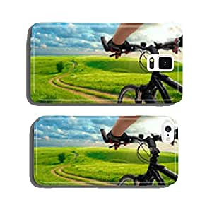 Man with bicycle riding country road cell phone cover case iPhone6 Plus