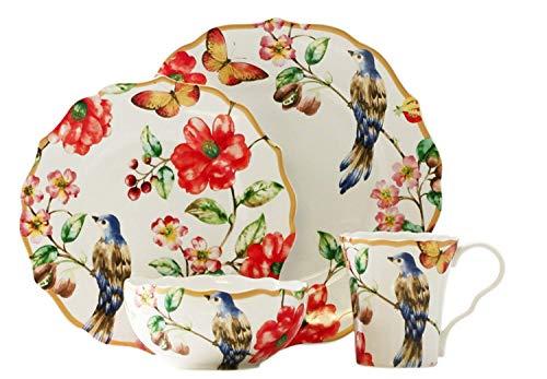Ambri White 16 Piece Dinnerware Set