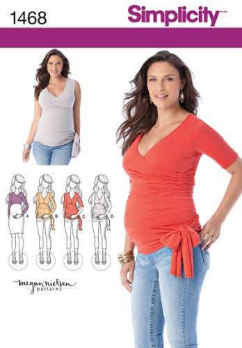 Simplicity Megan Nielsen Pattern 1468 Misses Knit Maternity Tops Sizes 6-24 XS-XL ()
