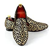 Men Wedding Shoes Leopard Printed Slip-On Dress Loafer (8)