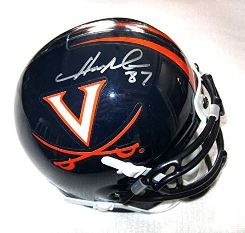 (Herman Moore Autographed Signed Memorabilia Virginia Cavaliers Mini Helmet - JSA Authentic)