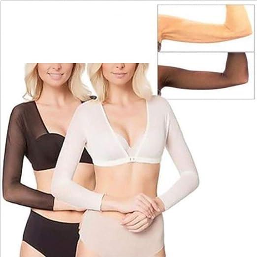 e1b3198d57604 Dragon Honor Women s Plus Size Seamless Arm Shaper at Amazon Women s  Clothing store
