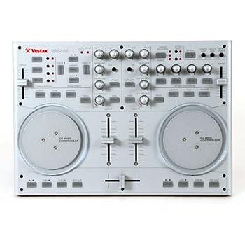 Vestax VCI-100 USB MIDI DJ Controller with Platter Controls (Silver)