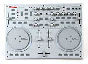 Vestax VCI-100 USB MIDI DJ Controller with Platter Controls (Silver)