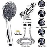 YEGU Handheld Shower Head Set High-Pressure 5 Settings Handheld Rainfall Shower Head combo