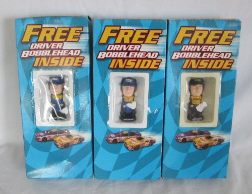 (Set of 3 - Miniature Racing Driver Bobbleheads